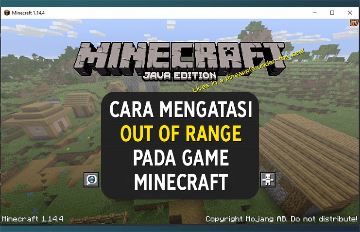 Cara mengatasi out of range minecraft